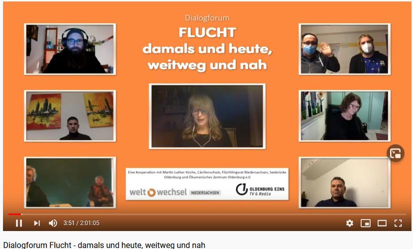 Dialogwerkstatt II: Oldenburg – FLUCHT: Damals und heute, weit weg und nah