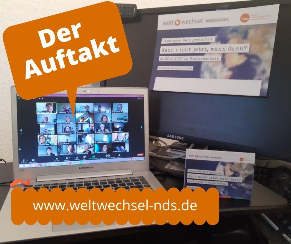 Erfolgreiche digitale Auftaktveranstaltung von weltwechsel Niedersachsen!